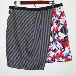 Peter Pilotto For Target Floral Striped Skirt